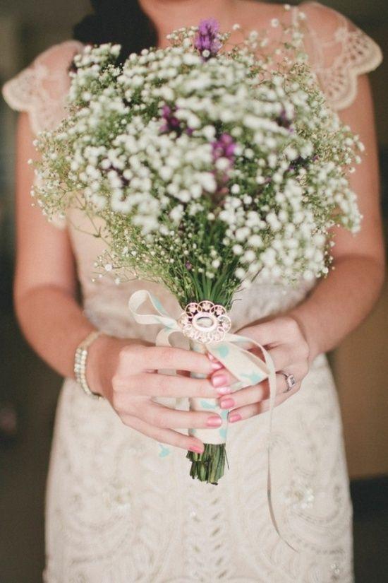 Букет невесты из гипсофилы