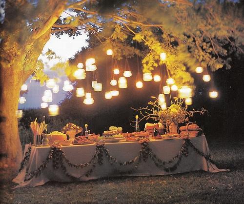 Подсвечники из баночек в свадебном оформлении DiscoverWedding.ru