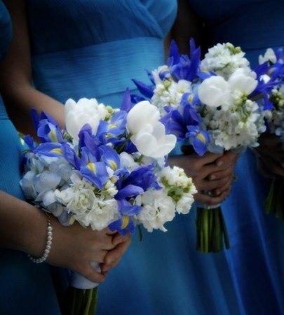 Синие цветы для свадьбы