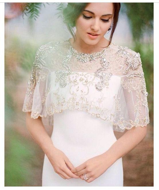 Накидки к свадебному платью