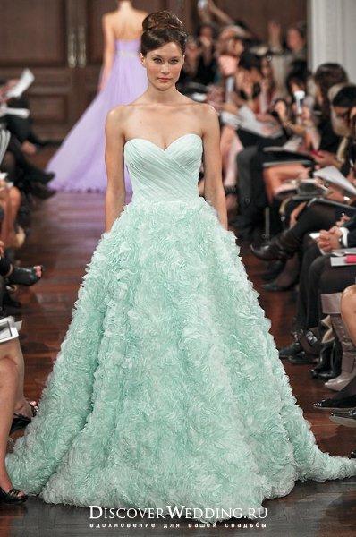 Цветные свадебные платья | DiscoverWedding.ru
