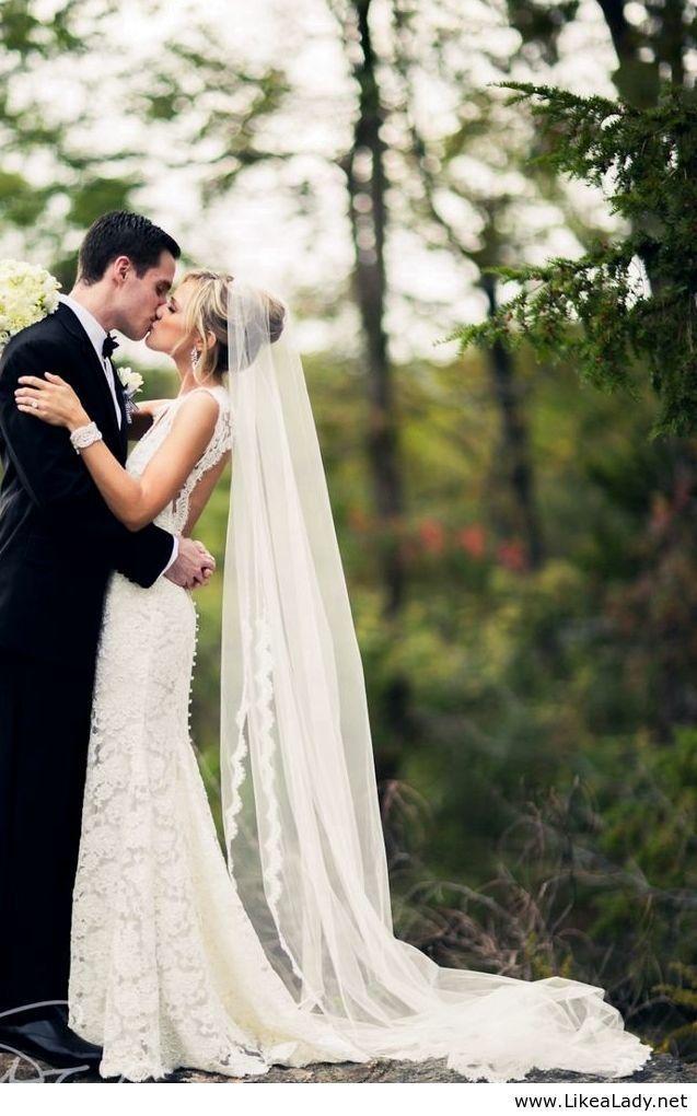 картинки свадебные прически с длинной фатой