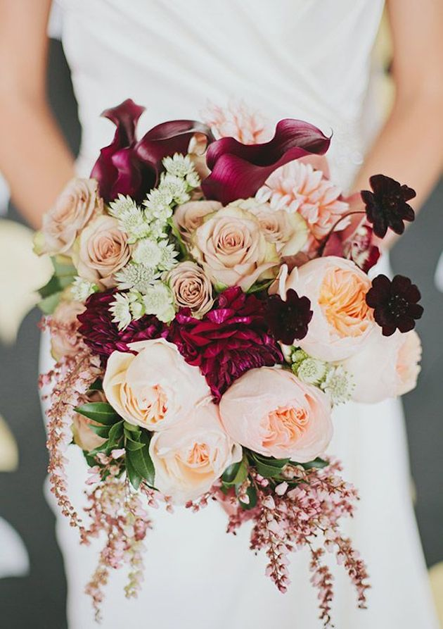 Autumn peach wedding