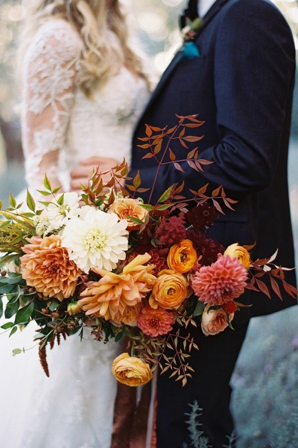 Cool fall wedding