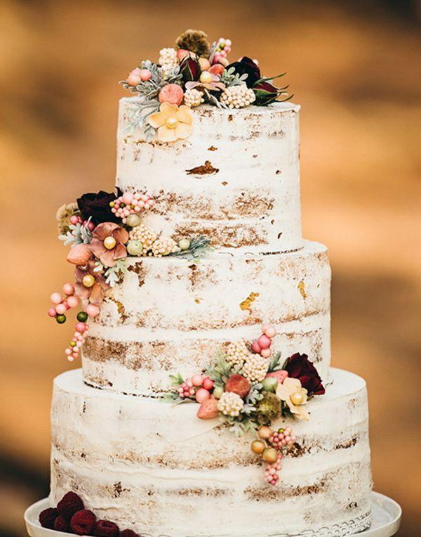 торт осенний свадебный фото