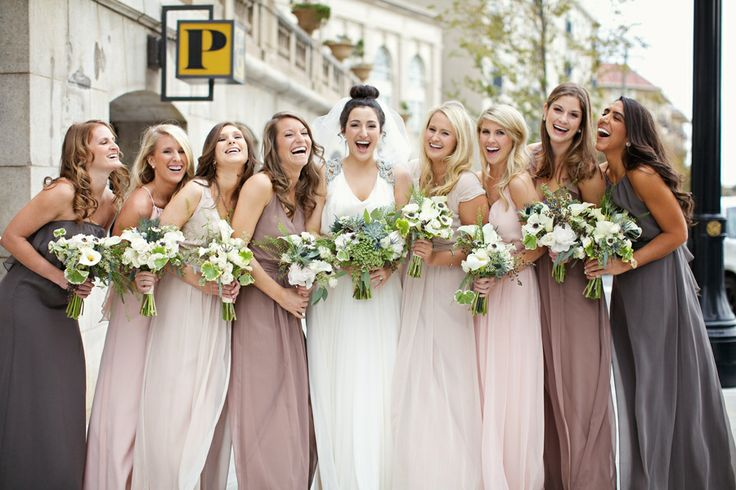 Different color dresses for bridesmaids – The best wedding photo blog