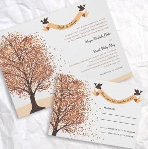 Приглашения для осенней свадьбы