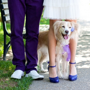 Perfectly Pictured People and Pets in Purple