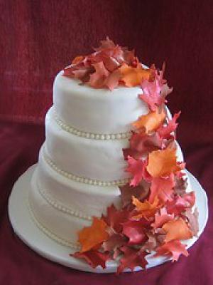 Торт на свадьбу фото осень