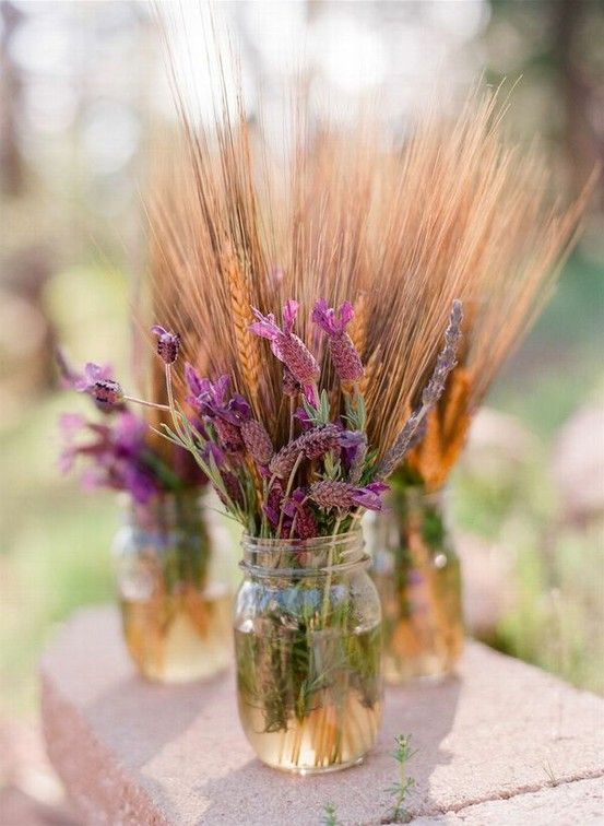 Декор пшеницей