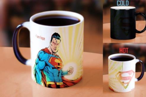 2017-07-07 16-29-29 Супермен кружки Магия света кружки тепла выявить кружка для кофе Morph путешествия пивная кружка тепла