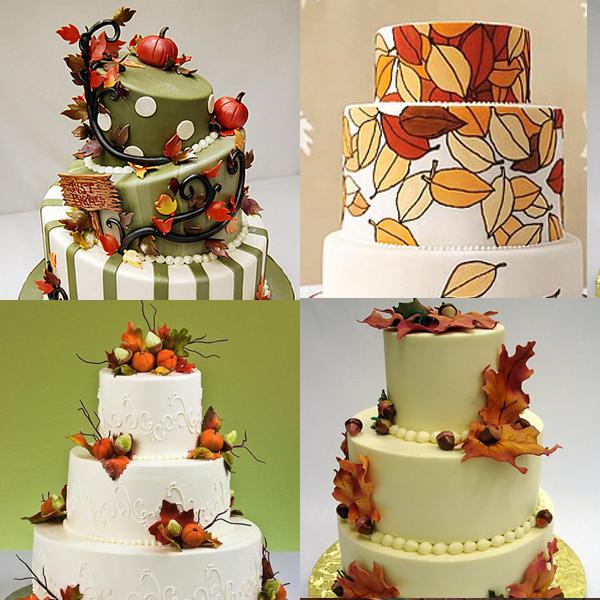600_600_cakes Красочная осенняя свадьба