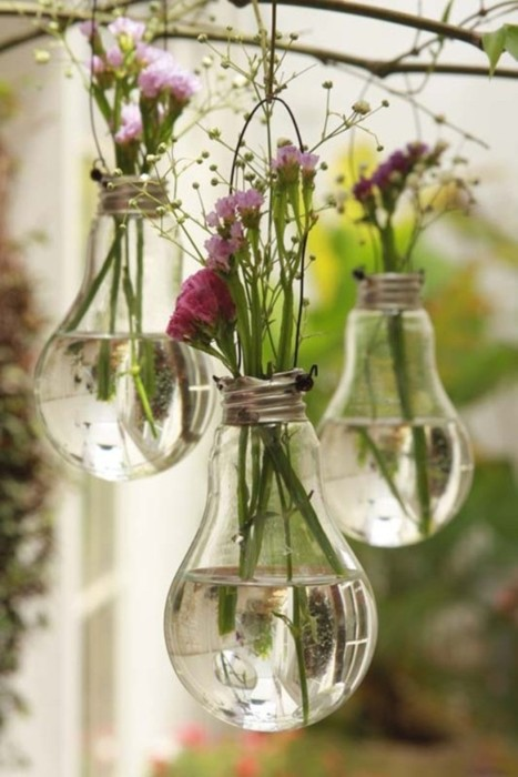 Вазы из использованных лампочек эко зеленая свадьба