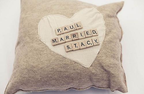 подушечка для колец эко свадьба буквы