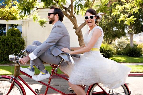 Свадьба на велосипеде