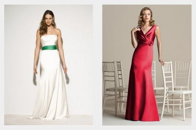 Christmas wedding dress collage onewebsize