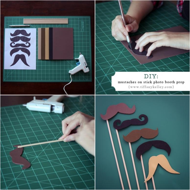 Как сделать из картона усики