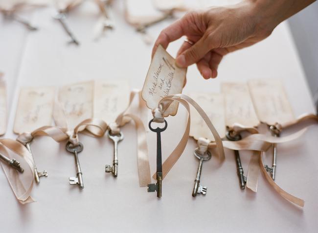 Whimsical-Blue-Red-Virginia-Vineyard-Wedding-Skeleton-Key-Escort-Cards