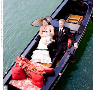 лодка для молодоженов