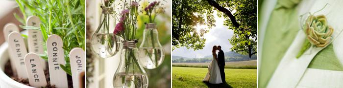 зеленая эко свадьба