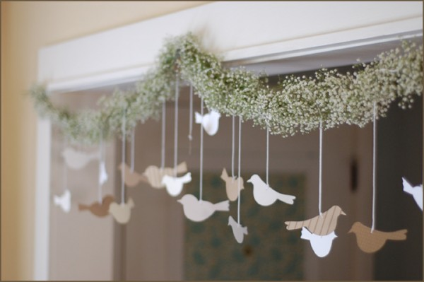 wedding diy baby's breath garland