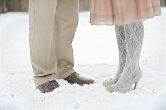 Красивые фото со свадбевными зимними
