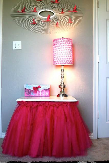 юбка для стола из фатина мастер класс