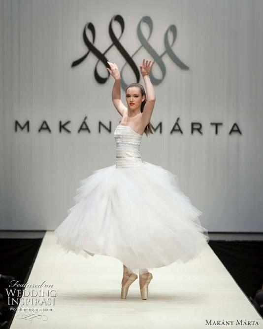 короткое платье невесты балерина