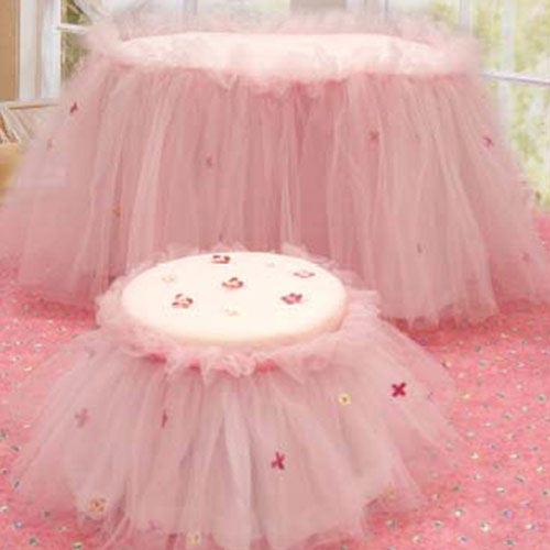 юбка для стола молодоженов розовый фатин мастер-класс