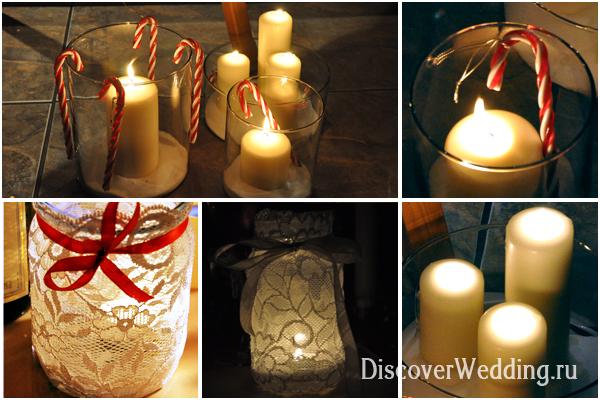 Свечи украшенные лентами своими руками фото 232