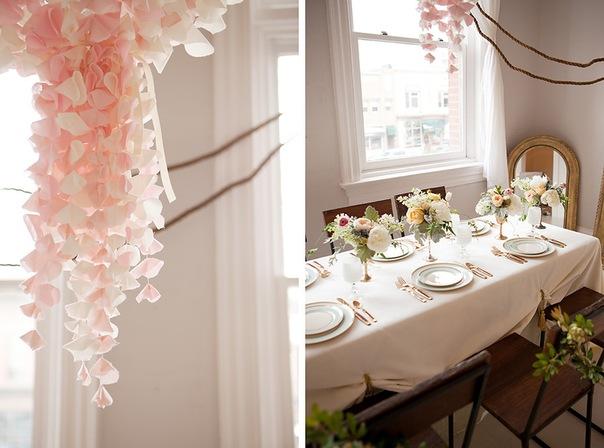 декор свадьбы розовый нежный