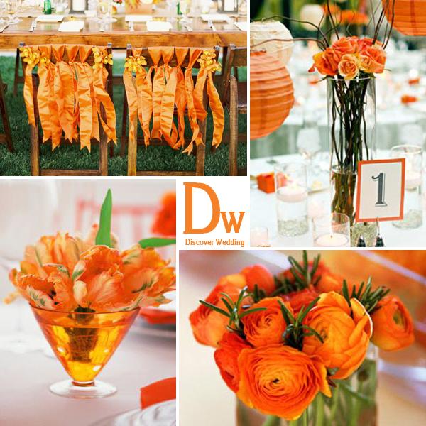 Оранжевая свадьба декор праздника в ярких тонах