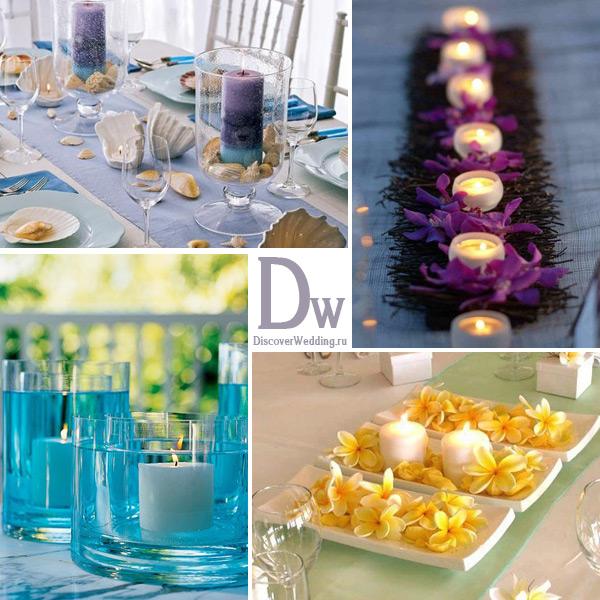 Украшения свечей к свадьбе