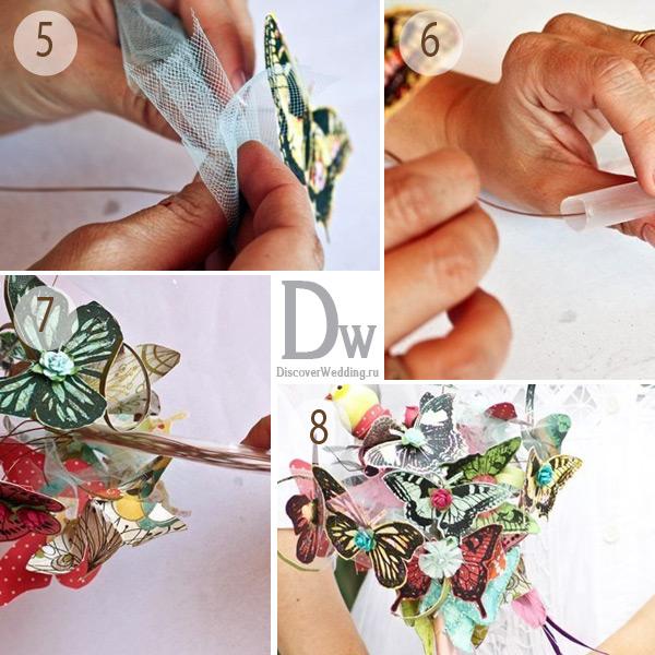 Бабочки для украшения букетов своими руками 79