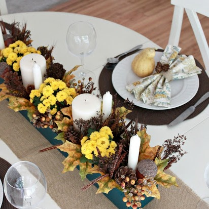 Копия Teal & Yellow Fall Tablescape 065 edited