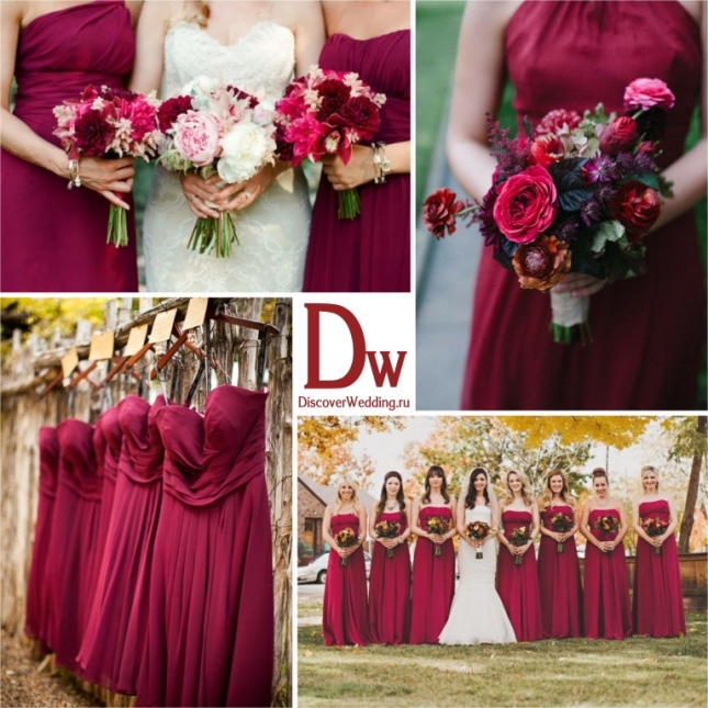 Brown red wedding