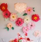 Бумажные фоны для свадебного оформления