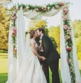 Свадебные арки с текстильным декором