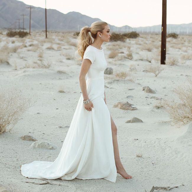 Минимализм свадебное платье