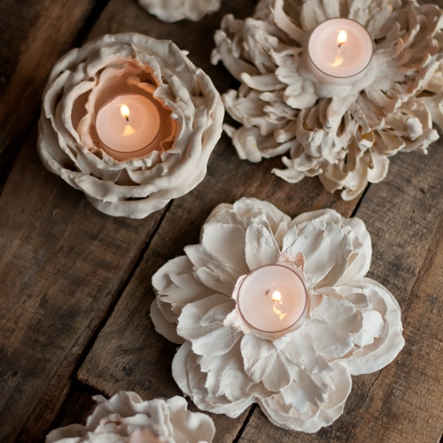 Копия Plaster-Flower-Votives-7