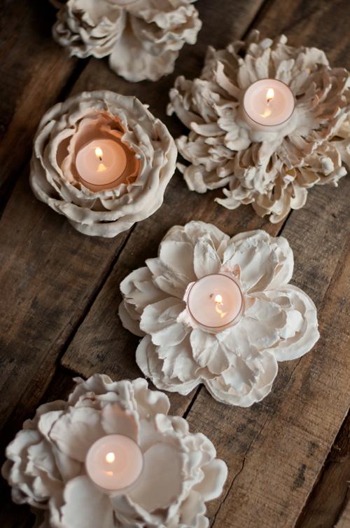 Plaster-Flower-Votives-7