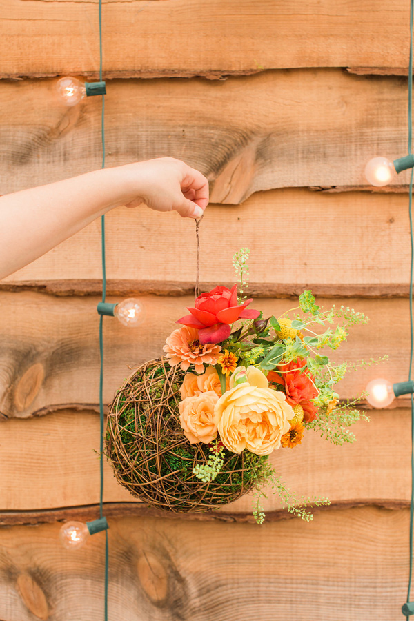 Ruffled - photo by Jessica Cooper Photography http://ruffledblog.com/diy-hanging-living-terrariums