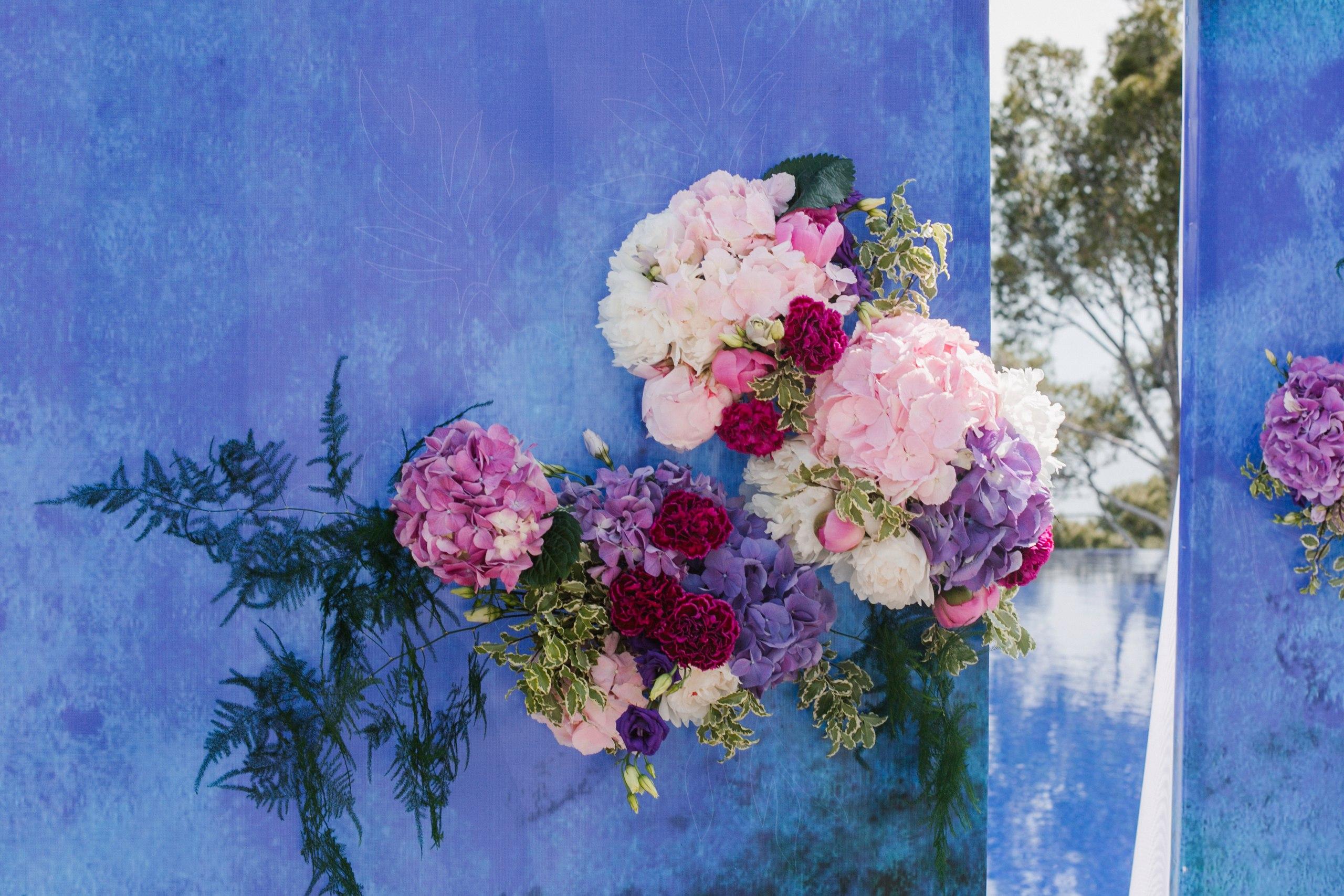 выездная регистрация цветы гортензии